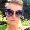 Swirly Padrão Gato óculos de Sol Olho Para As Mulheres Superdimensionada Óculos de Tempestade Gatos Silhueta K7156 gafas de sol Com Caixa de Proteção