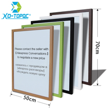 Купить с кэшбэком XINDI 50*70cm 10 Colors MDF Frame Magnetic Drawing White Board Office Business Message Dry Erase Whiteboard Factory Outlet WB25