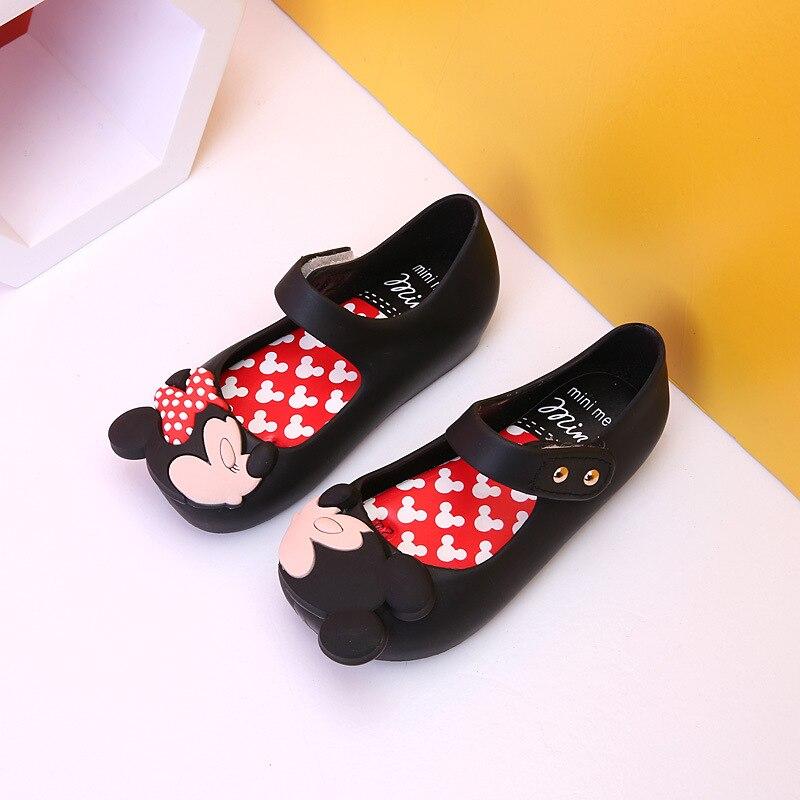 Fashion Girls Shoes Mini Twins Mouse New Style Kid Shoe Ultragirl Sweet Beach Sandal Cute Mouse Rivet Belt Slipper