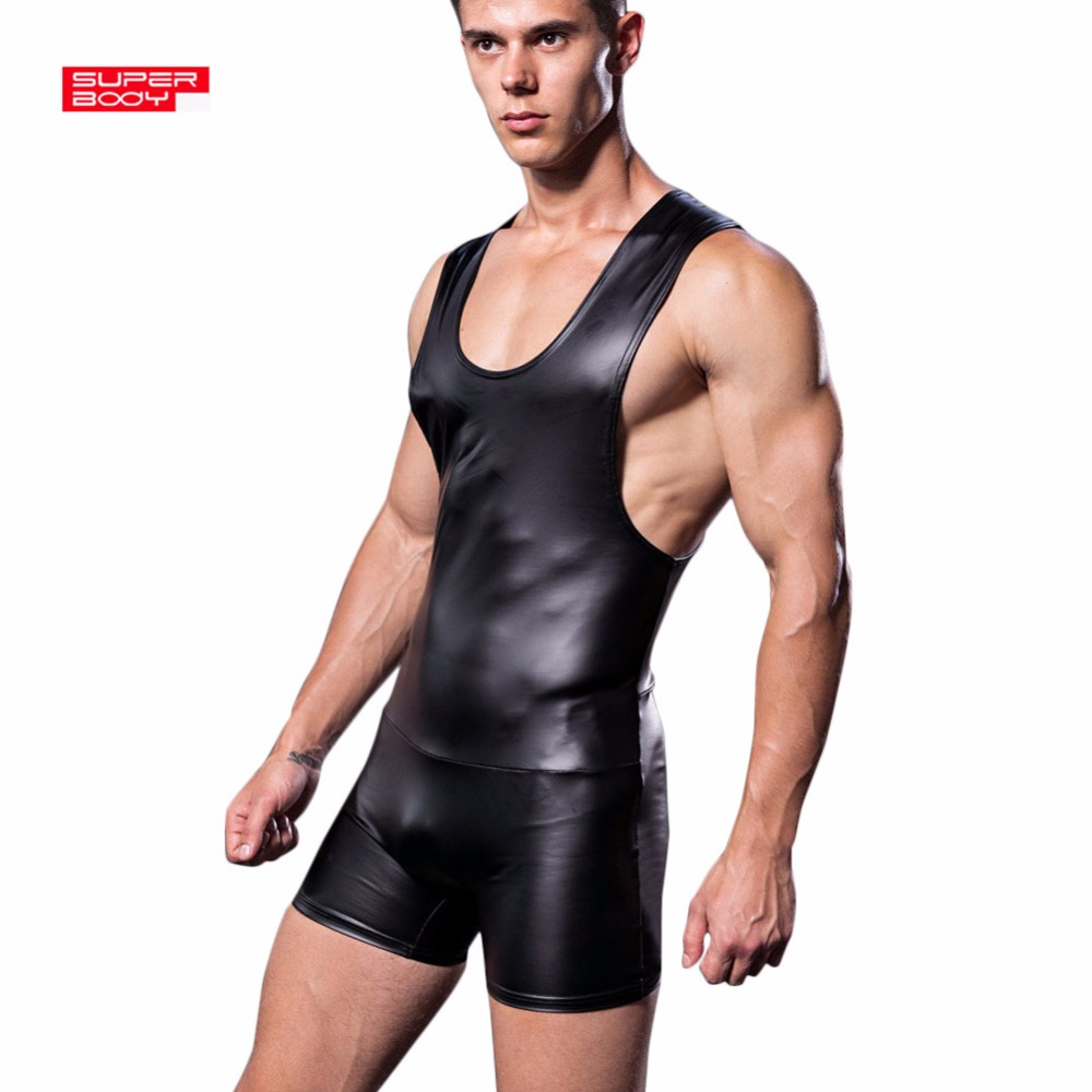 Brand Superbody Sexy Men Bodysuit Gay Penis Pouch Jumpsuit Man Body Suits Male Bodybuilding Underwear Tank Top Singlet 2019