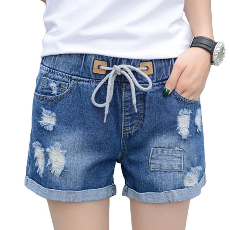 Korte Broek Dames Spijker.Shorts Vrouwen Mode Pocket Dames Jeans Vintage Broek Vrouwen Hole