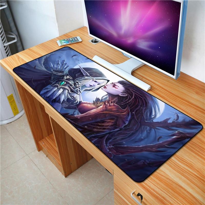 FFFAS 90x40cm World Of Warcraft Mouse Pad XL Large Anti-slip Big Desk Cushion Mousepad Gaming Gamer Mouse Keyboard Desk Mats