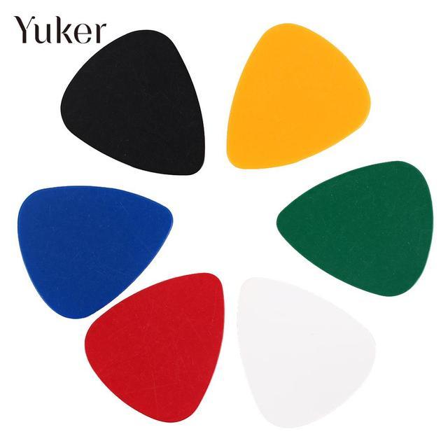 25pcs colorful 0.51/0.71/0.46mm thickness Guitar Picks Plectrums Celluloid Mediators Bass Guitar parts
