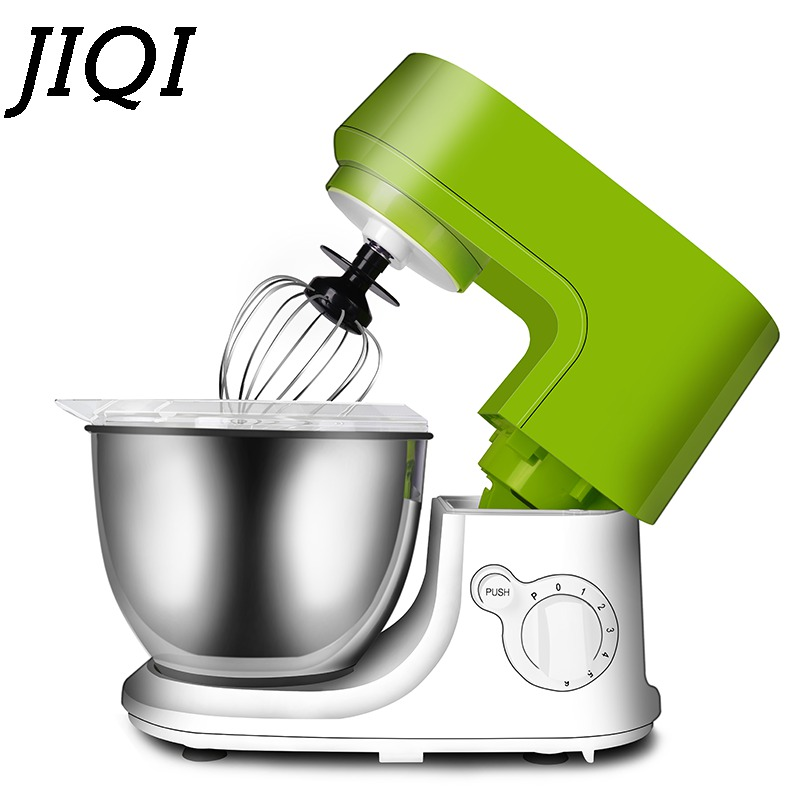 JIQI multifunctional Food Mixers 4L electric Stand mixer Chef machine Household baking kitchen cooker dough kneading egg beaterJIQI multifunctional Food Mixers 4L electric Stand mixer Chef machine Household baking kitchen cooker dough kneading egg beater