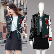 Spring 2019 New Collision Collage 3 D Model Jacket - Piece Women and Coat Mandarin Collar Patchwork Pockets