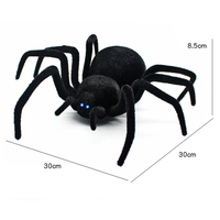 30CM Remote Control Realistic RC Spider Scary Toy Prank Model A Giant Black Widow Spider Halloween Toy GiftsInfrared