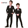 2018 New Boy suits flower boys blazers clothing suit children formal uniform teenager clothes outfits kids piano party costume