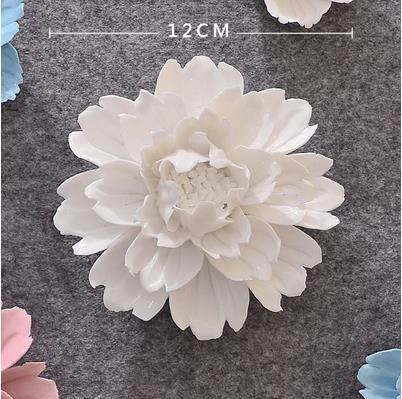 2017 creative céramique fleurs, pivoine fleurs et fleurs de cerisier, décoratif arts et artisanat, décorations murales