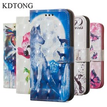 KDTONG Case sFor Samsung Galaxy J4 2018 Leather Flip Magnetic Walte Card Cover For Plus