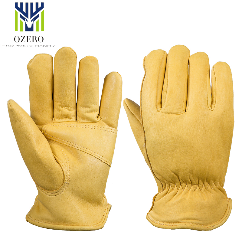 Ozero Leather Motorcycle Gloves Sports Gloves -30 Warm Windproof Anti Cold Slip Snowboard Hiking Racing Ski Gloves For Men 5001
