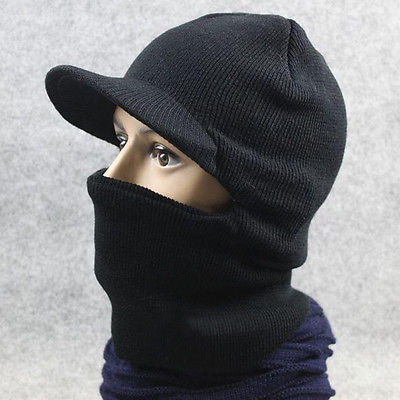 New Men Winter Warm Full Face Cover Winter Ski Mask Beanie Hat Sport  windproof 348810a6609e