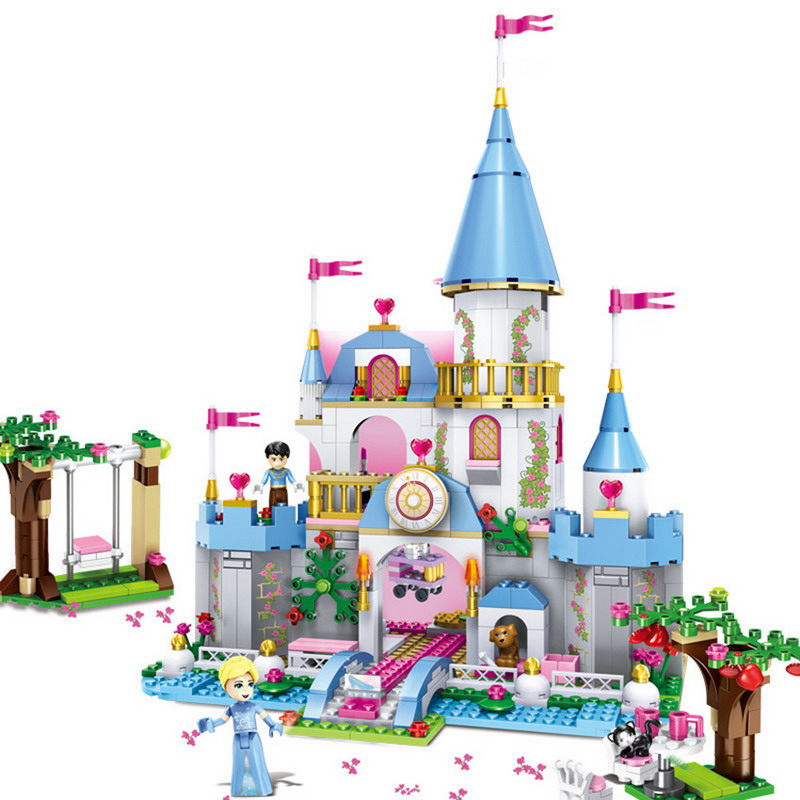 LELE 79279 City Friends Cinderella Romantic Castle Figure Blocks Construction Building Bricks Toys For Children Compatible Legoe decool 3117 city creator 3 in 1 vacation getaways model building blocks enlighten diy figure toys for children compatible legoe