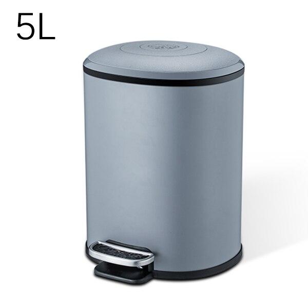 MR. BIN 5L/12L Классическая педаль мусорное ведро металлическое ведро и ABS Тихая корзина для мусора с крышкой современный простой домашний мусорный мусор - Цвет: 5L Grey