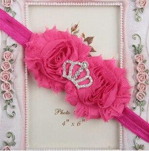 15 цветов инструмент для укладки императорская корона ободки аксессуары для волос для детей делают их модными милыми - Цвет: 5 rose red