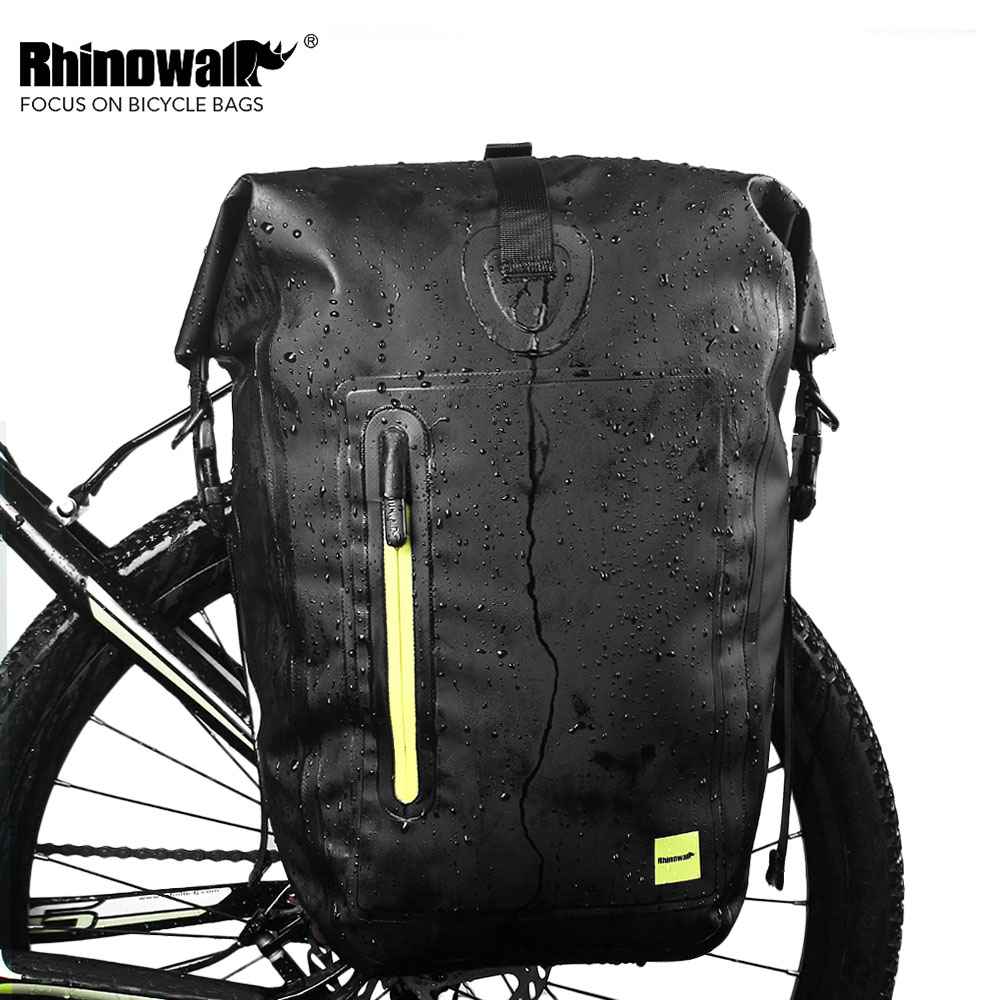 Rhinowalk 25L Bicycle Tail Rear Saddle Bag Pouch Waterproof Multifunction MTB Road Bike Bag Pannier Rear Seat Trunk Bag road bike led saddle bag mtb mountain bicycle seat post bag cycling bicicleta waterproof seat tail pouch rear safe package