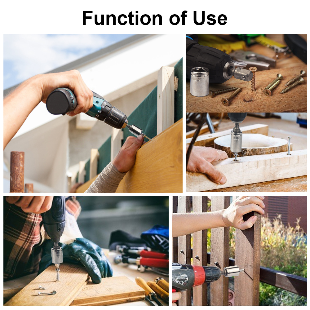 JelBo Drill Socket Adapter Set Tools Drill Bits Socket Wrench - Foret - Photo 4