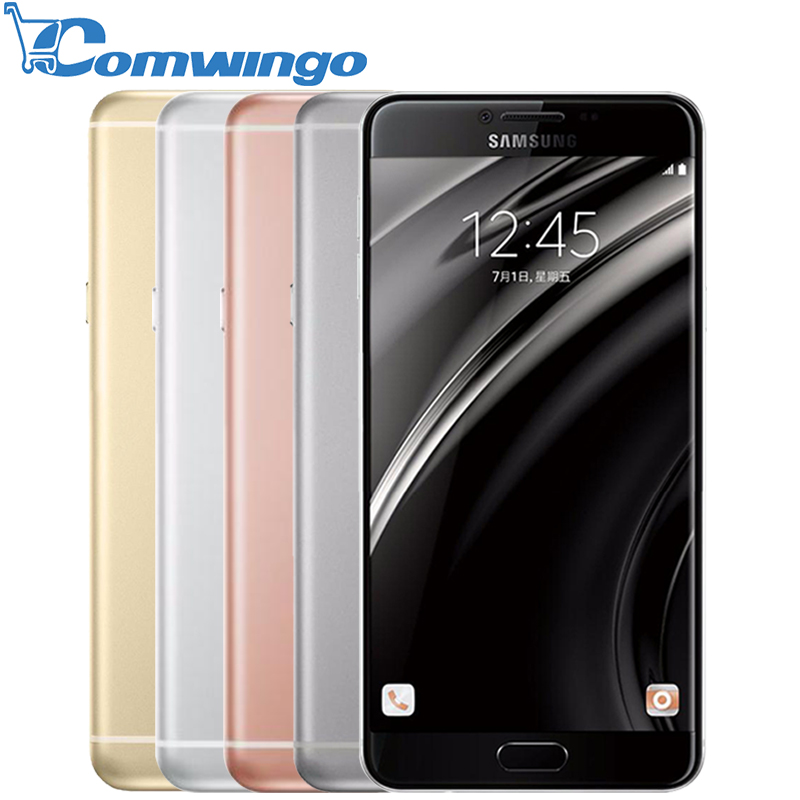 Original <font><b>Samsung</b></font> Galaxy C7 mobile phone Android6.0 4GB RAM 32/64GB ROM 16MP Camera 5.7 inch Smart Cell Phone