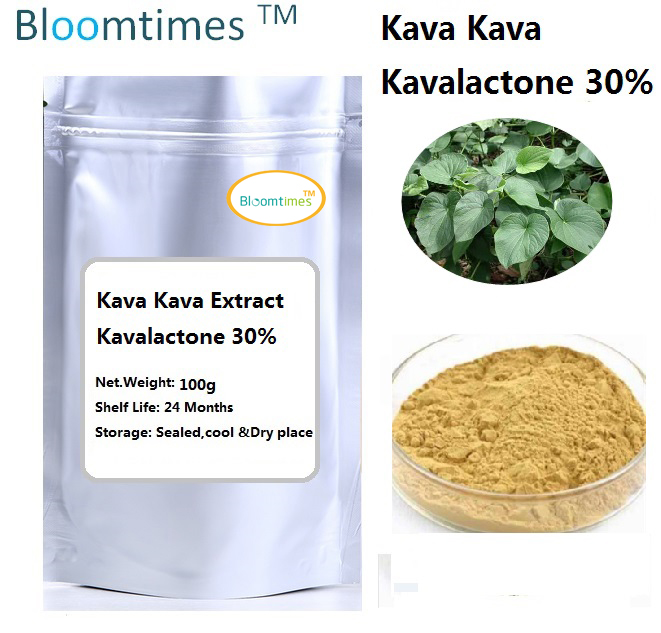 Natural supplement Kava kava root Extract Kavalactone 30% 100g pure natural radix sophorae flavescentis extarct kuh seng extract 100g lot