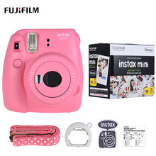 Fujifilm Instax Mini 9 Camera Fuji Instant Camera Film Cam met Selfie Spiegel + 50 Vellen Wit Film Fotopapier(China)