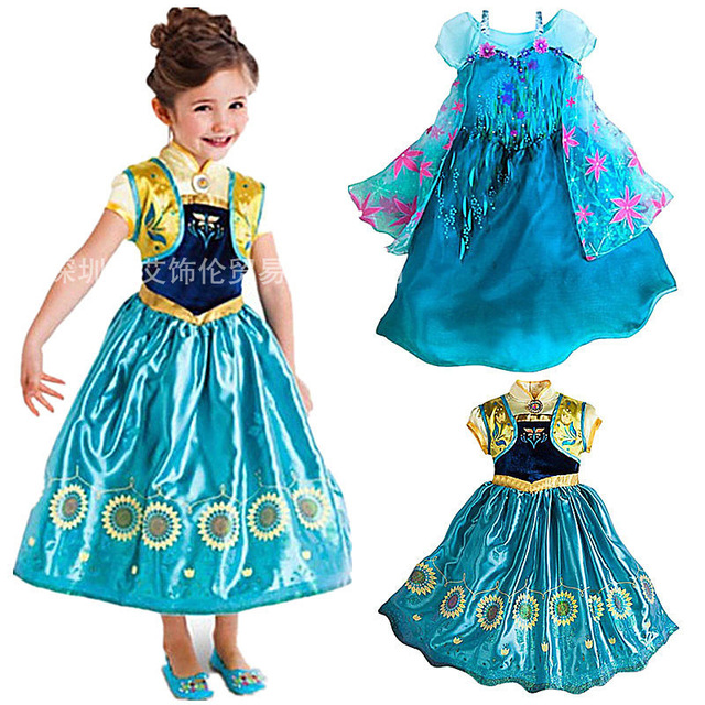d10b82a3a21a0 2016 New Kids Anna Elsa Costume Dress for Girls Princess Dresses Children  Party Costume Fairy Tales Princess Elsa Dress Cosplay