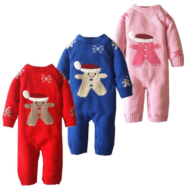 8e0a1bf73dee Chrismas Santa Claus Baby Rompers Pajamas Newborn Clothes Cartoon ...