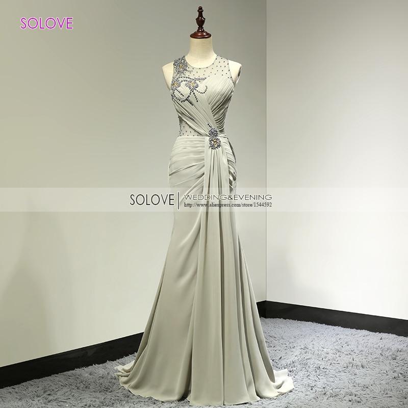 Scoop Sexy Chiffon Beach Wedding Dress 2018 Chiffon Wedding Dress Beaded Mermaid Wedding Gown Casamento Vestido