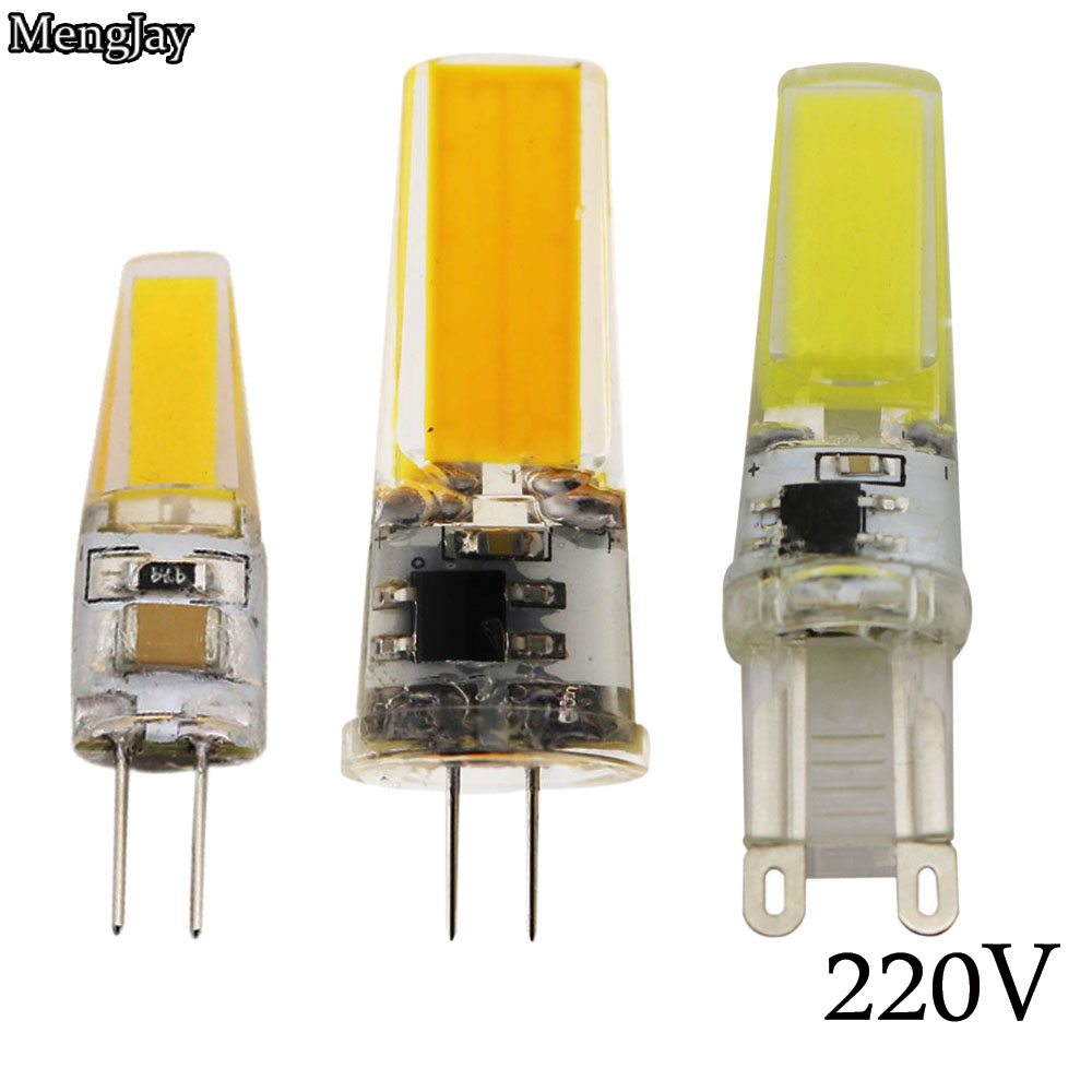 1 Piece LED G4 G9 Lamp Bulb AC 220V 6W 9W COB SMD LED Lighting Lights Replace Halogen Spotlight Chandelier