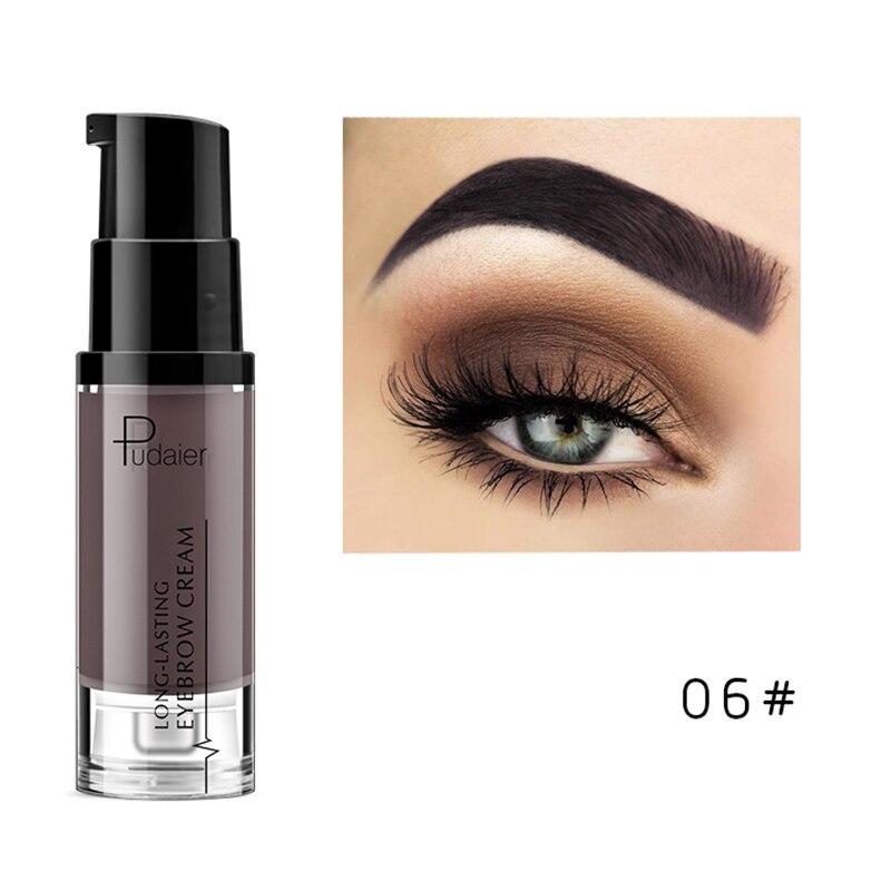 Pudaier, водостойкий Гель для макияжа в форме бровей, стойкий оттенок, тени для естественного увеличения бровей, крем, легко окрашиваемый, TSLM2 - Цвет: 06