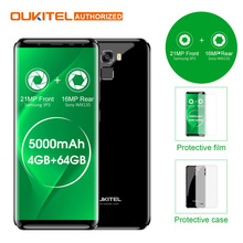 "Oukitel K5000 5,7 ""HD 18:9 4G Smartphone 5000 mAh Android 7.0 4 GB + 64 GB MTK6750 Octa-core 21MP + 16MP Fingerabdruck Mobilen Handy"