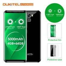 Oukitel K5000 5.7″ HD 18:9 4G Smartphone 5000mAh Android 7.0 4GB+64GB MTK6750 Octa Core 21MP+16MP Fingerprint Mobile Cellphone