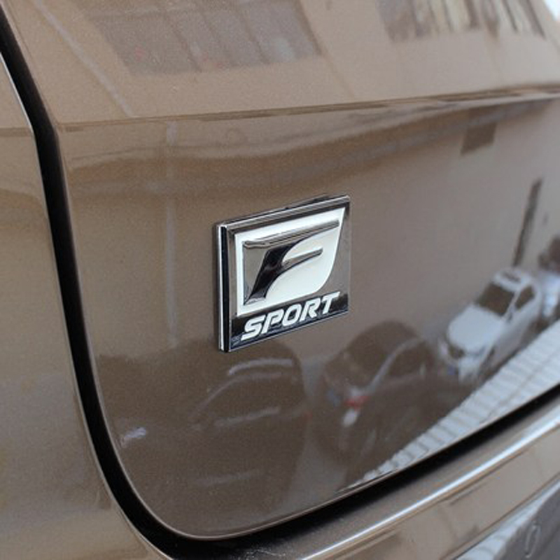 Pour Lexus sport modifié voiture autocollants FSPORT métal modifié standard côté porte l'étiquetage feuille queue