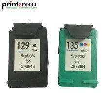 einkshop 129 135 Refilled Ink Cartridge Replcement for hp Deskjet 5940 5943 D4163 6983 Photosmart 2570 2573 printer