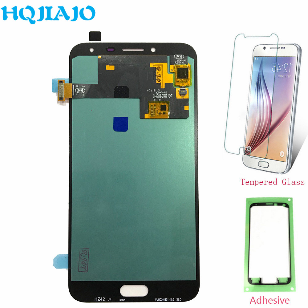Super AMOLED lcd pour Samsung J4 J400 écran lcd numériseur à écran tactile Pour Samsung Galaxy J4 J400 J400F J400G L'assemblée D'origine