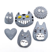 LF 5Pcs Fake Resin Totoro Decoration Crafts Flatback Cabochon Embellishments For Scrapbooking Kawaii Cute Diy Accessories(China)