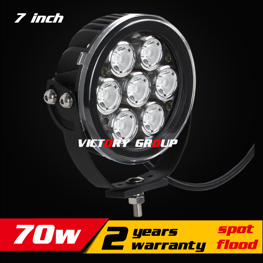 7inch 70W LED Work Light Tractor 4x4 SUV ATV LED Offroad Fog light 12v 24v IP76 Spot / Flood LED Drive Light Save on 75w 96w