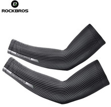 ROCKBROS Summer Ice Arm Warmer Sleeves Fishing Camping Cycling Bicycle Fitness Driving Armwarmers Riding Sunscreen Sleeve