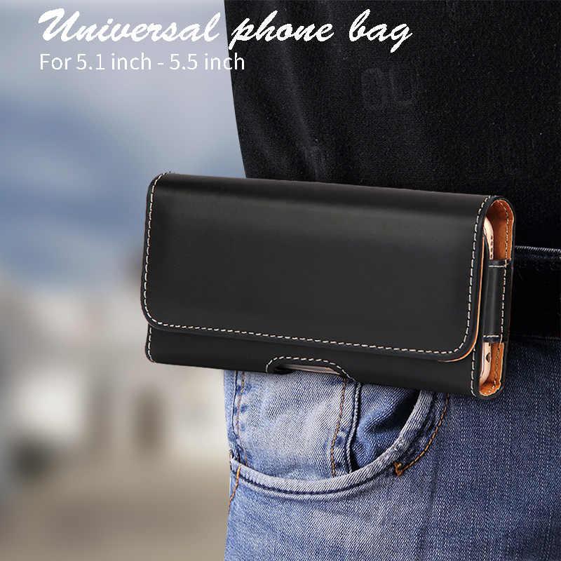 حزام كليب الحقيبة الجلدية غطاء الهاتف لهواوي P30 P20 P10 زائد V10 V20 8X8 S 8A 4C برو 7A 7C 8C P الذكية Z Y7 Y9 P9 P8 الخصر حقيبة