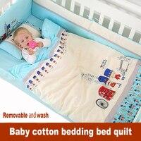 Новорожденных набор детского постельного белья кровать вокруг постельные принадлежности 100% хлопок одеяло демонтаж 1 предмет осень и зима