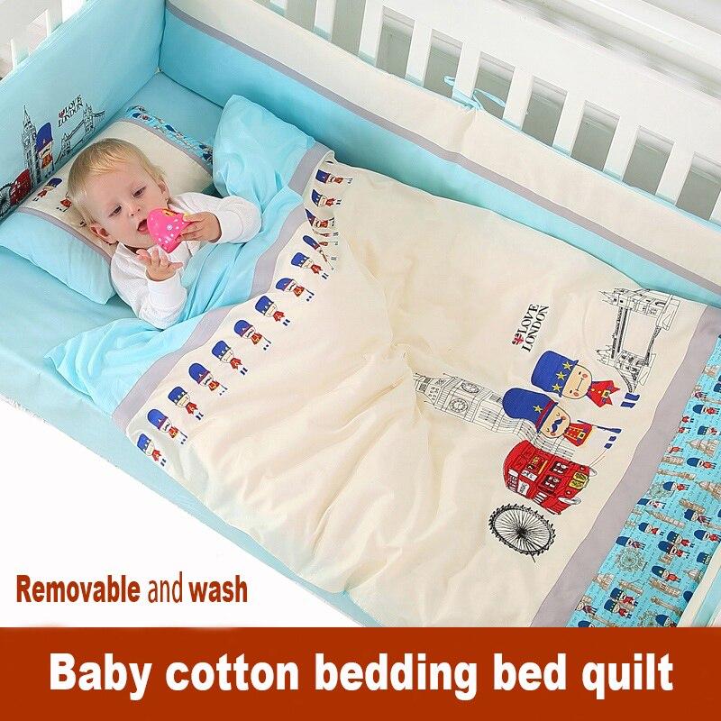 Nouveau-né bébé literie kit lit autour de la literie 100% coton couette démontage pièce ensemble 100% coton automne et hiver