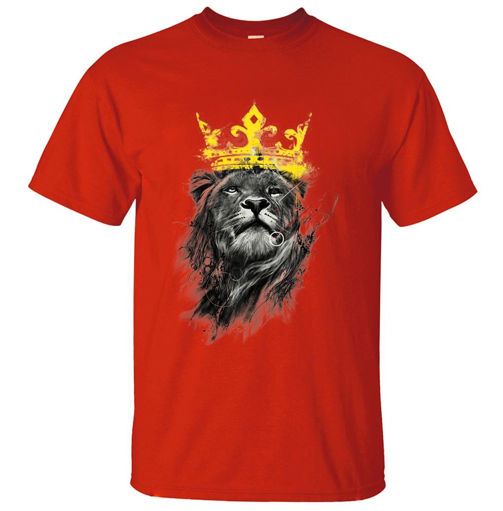 fc727ec6a Lion Hip Hop Men's T-Shirt 2019 Summer Funny T Shirts Men 100% Cotton 3D  Printed Tops Brand Clothing Camiseta Masculina