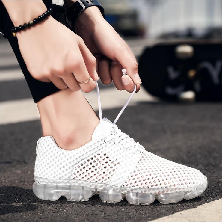 High quality men sneakers sport shoes walking shoes 2018 breathable mesh shoes outdoor b ...
