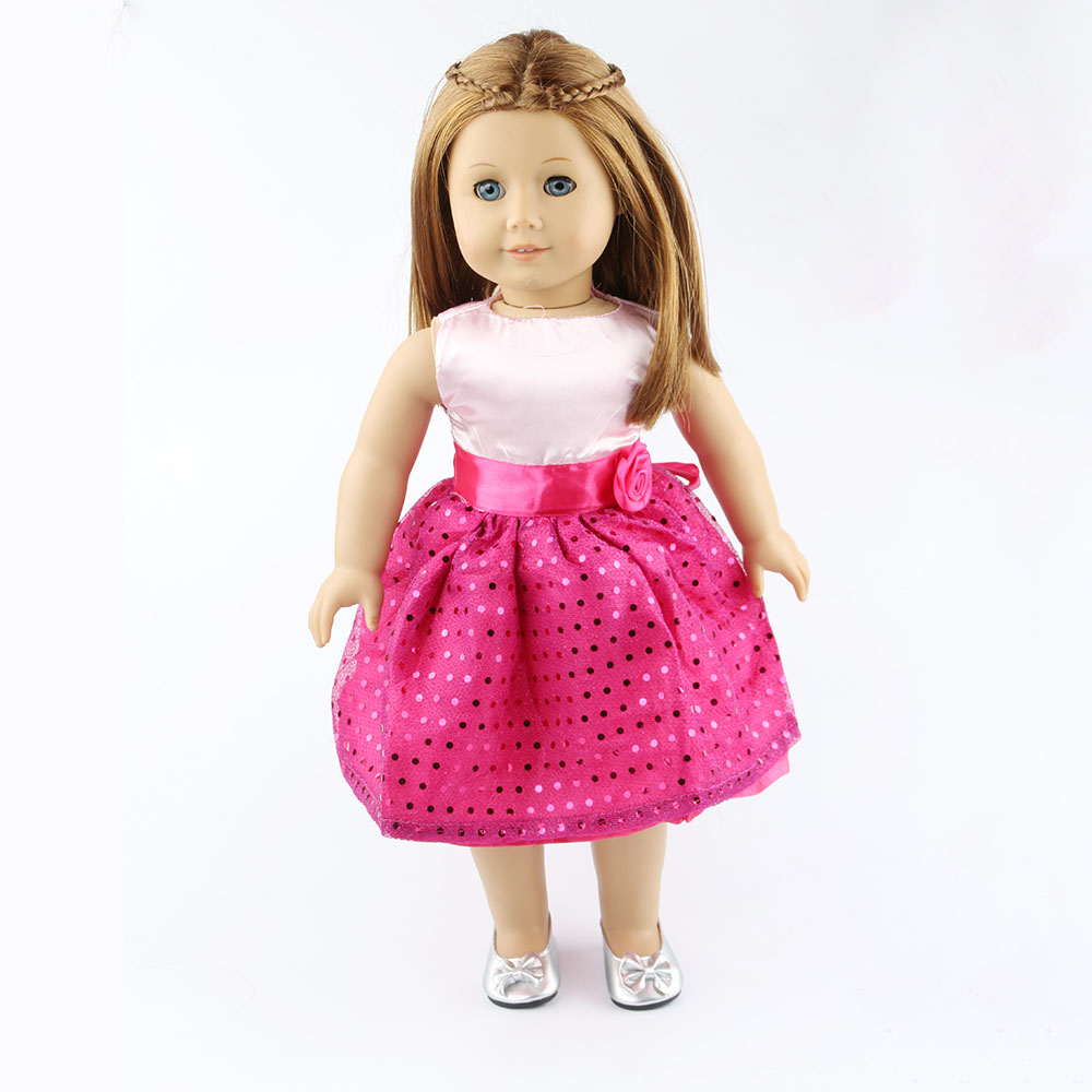 18 inch American girl dolls clothes manually white wedding dresses children Christmas gift free shipping W28