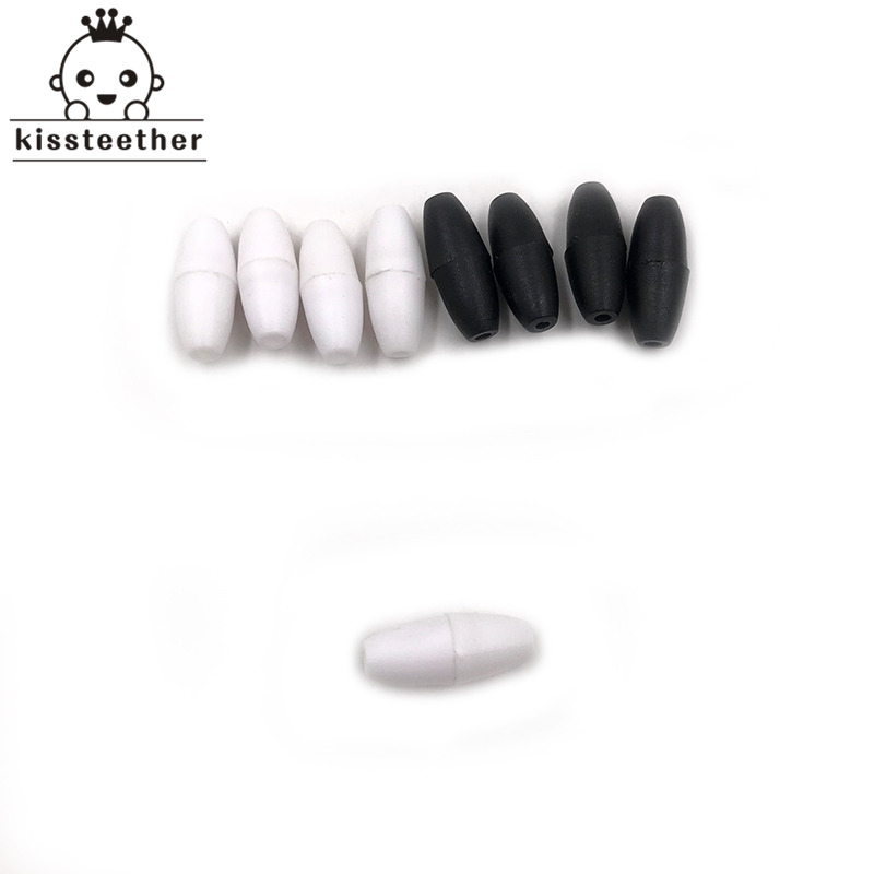 200pcs Black And White Breakaway Plastic Clasps For Silicone Teething Necklace DIY Safety Clasp Baby Teether Clasps