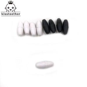 Image 1 - 200pcs in Bianco e Nero Breakaway Plastica Catenacci Per Silicone Dentizione Collana FAI DA TE di Chiusura di Sicurezza Del Bambino Massaggiagengive Catenacci