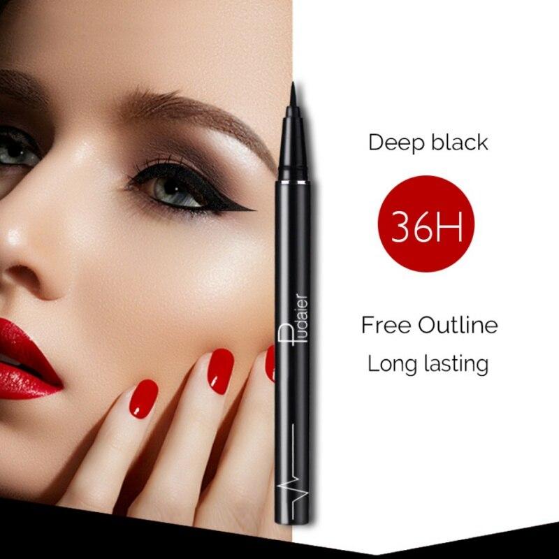 Professional Waterproof font b Eyeliner b font Pencil Long lasting Black Eye Liner Pen Thin Lines