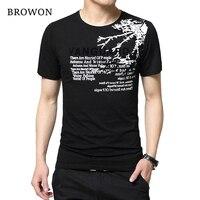 2016 Summer Fashion T Shirt Men Cotton Round Collar Short Sleeve Slim Fit T Shirts Plus