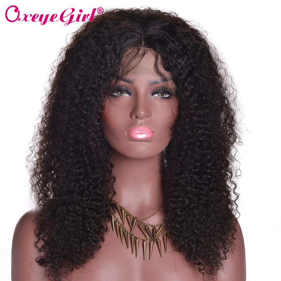 13x4 Lace Front Human Hair Wigs For Black Women Brazilian Wig Afro Kinky Curly Human Hair