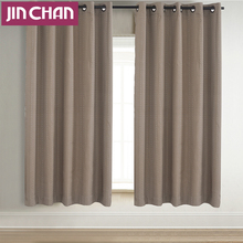 100%Polyester Modern Strip Design Thick Blackout Curtain Fabric For Living Room The Bedroom Window Treatments Drapes Panel 2PCS