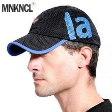 MNKNCL secado rápido malla gorra de béisbol verano fresco respirable ligero  Anti UV protección solar sombrero 41186957fcb1
