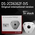Rápido frete grátis Versão Englishi DS-2CD6362F-IVS 6MP Fish-eye 360 Graus vista panorâmica IP66 Câmera de Rede de Apoio Mapa de Calor